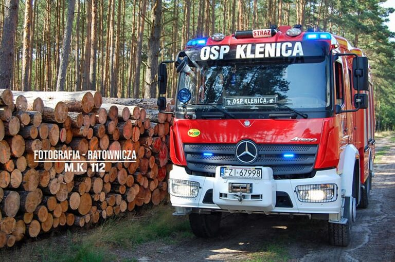 Wóz strażacki OSP Klenica – zdjęcia z sesji